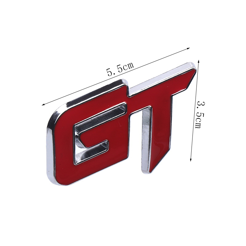 Image 4 - Car Styling 3D Metal GT Emblem Car Front Grille Badge Decal Stickers Accessories For Ford KIA Volkswagen Honda Auto Accessories-in Car Stickers from Automobiles & Motorcycles