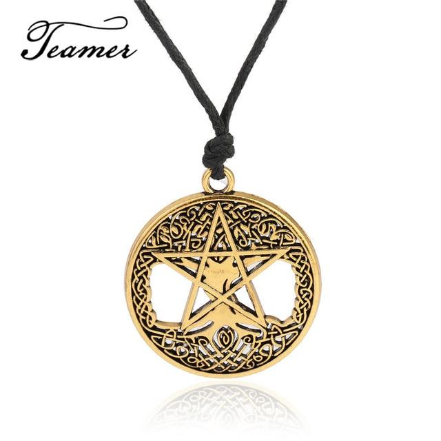 Mysteriöse Talisman Viking Odin Pentagramm Charms Anhänger Rune Halskette