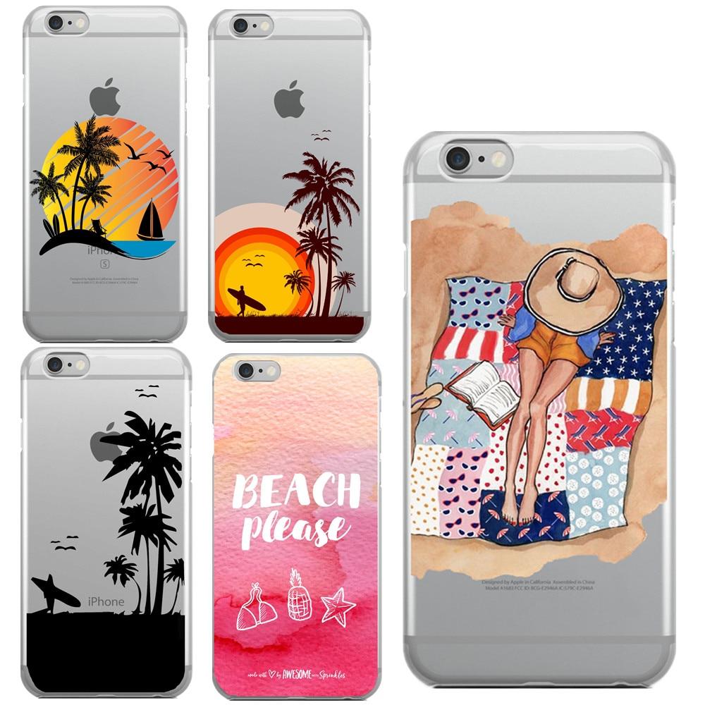 Sidste nye Sommer in Hawaii Strand bitte Telefon Fall Für Apple iPhone 6 6 s UO-15