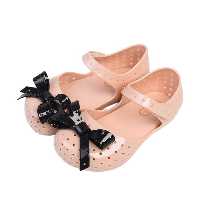 b822e1684d2 Mini Melissa Original Girl Jelly Sandals Bow 14.5-17cm Children Shoes Baby  Princess Sandals Girl Shoes For Children High Quality