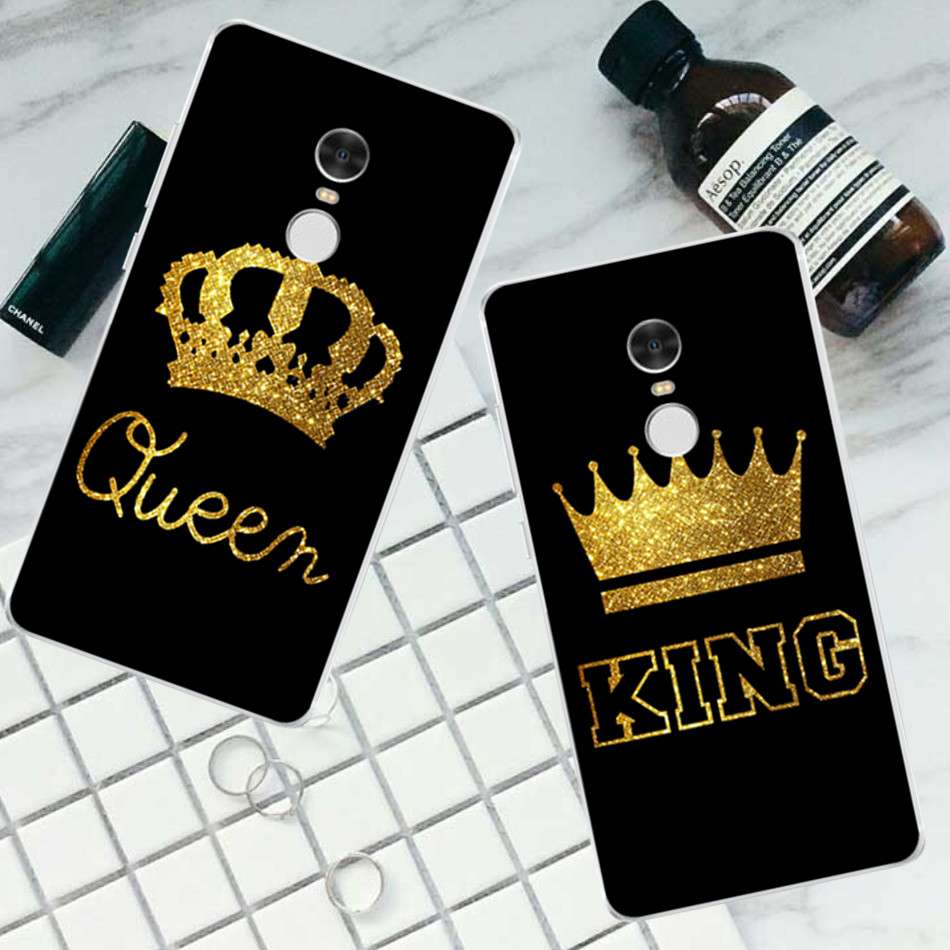 King <font><b>Queen</b></font> Cover <font><b>Case</b></font> For iPhone 7 4 4S 5 5S 5C SE 6 6S Plus For Xiaomi Redmi 4 4A 3S 3 S 4X Note 3 4 Pro Prime 4X