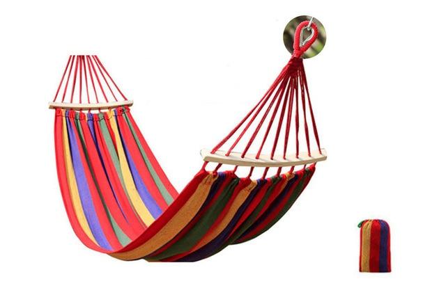 막대기를 가진 큰 화포 해먹 두 배 사람 정원 그네 침대 교수형 침대 의자 롤러 예방 옥외 야영 260*150/100 cm