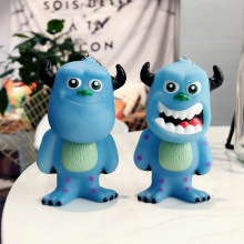 2019 1PC new Monsters Inc University Keychain Leather Rope Bells Key Ring Car Purse Charm Pendant figure toys