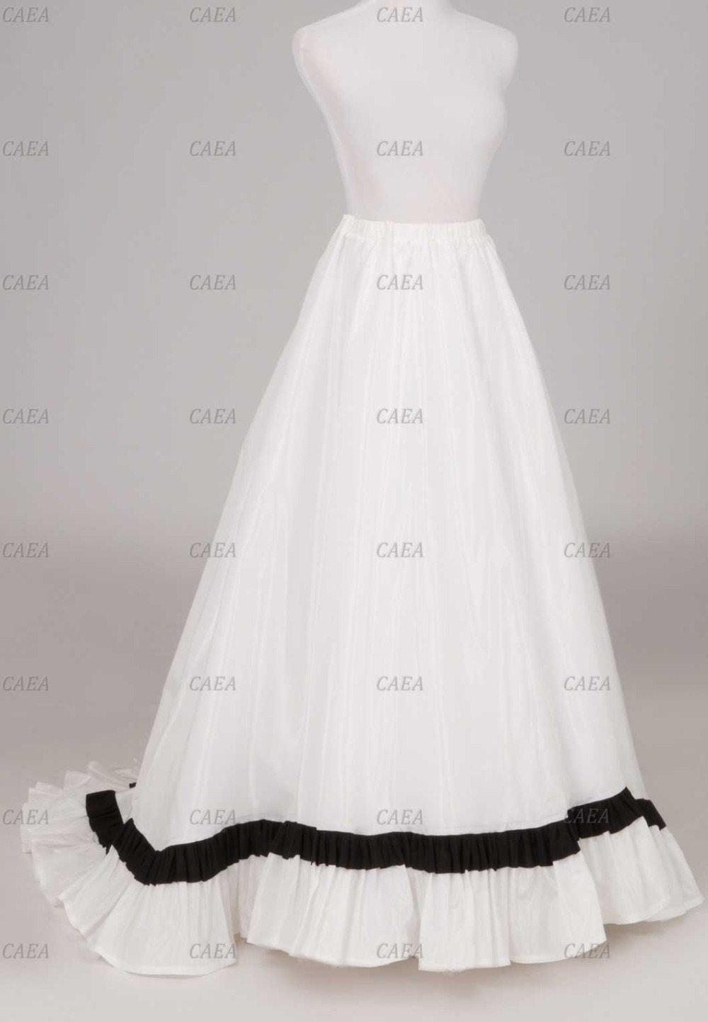 Викторианский Белый сатин Раффлед обученные юбка атласная юбка обычай делать плюс Размеры