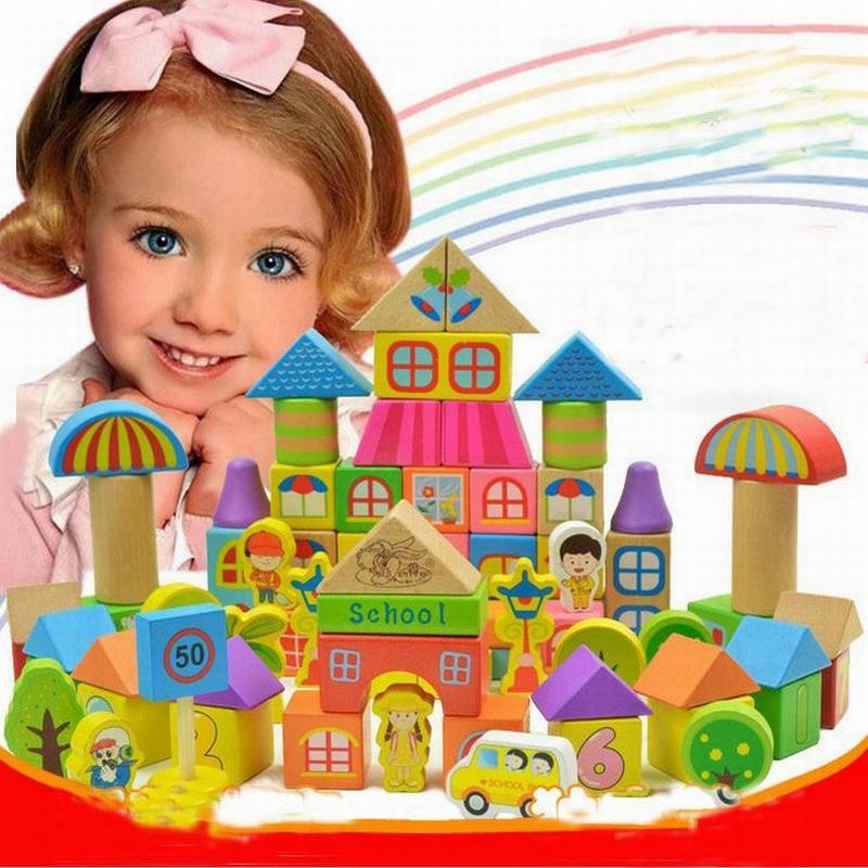 190PCS/Set Spark Create Imagine Wooden Building Blocks Toy Construction Rainbow Colored Child assembled Intelligence Toys baby intelligence wooden acrylic paint rainbow tower toy multicolored