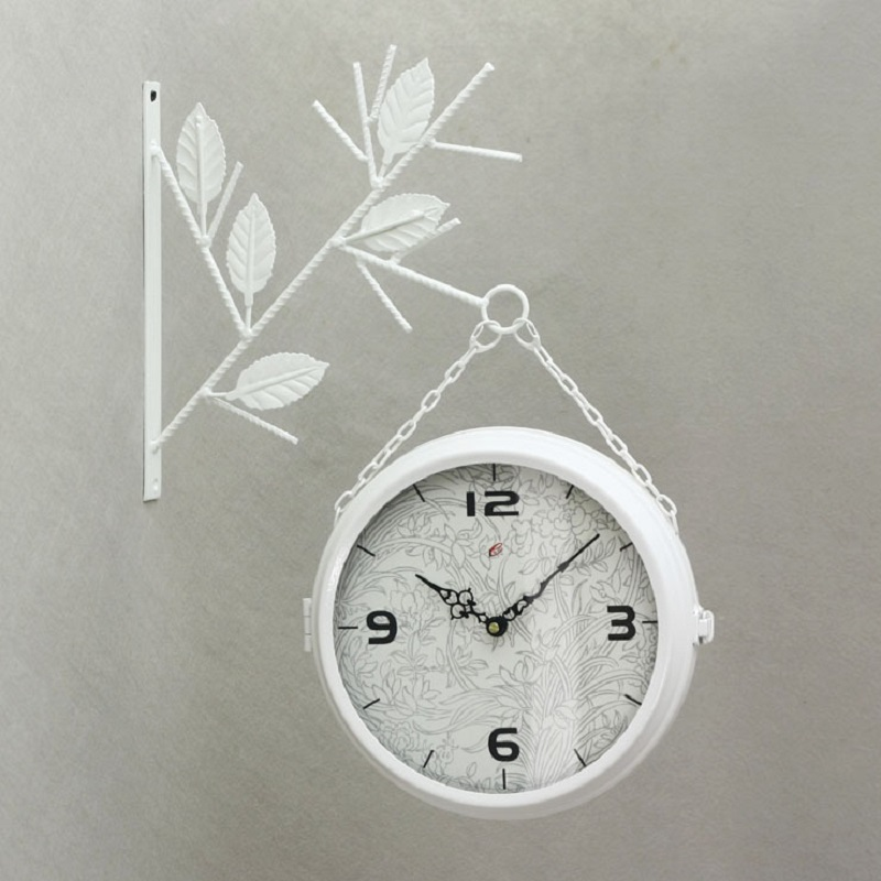 large wrought iron wall clock double sided wall clocks big digital watch vintage decorative relogio parede reloj pared wanduhrin wall clocks from home