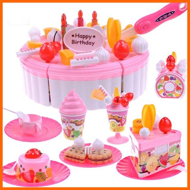 Children play house toys 73 Kitchen Cookware Set fruit birthday cake