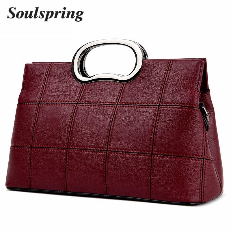 2018 New Plaid Tote Bag Luxury Handbags Women Bags Designer Casual Women Crossbody Bag Bronze Designer Handbags High Quality New