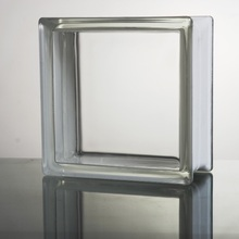 1,000x Transparent Glass Block of 19x19cm, Thickness of 8cm, 2.5kg/pc