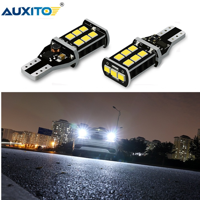 AUXITO 2Pcs T15 W16W <font><b>LED</b></font> Canbus Bulbs No Error Car Reverse Backup Light For <font><b>Renault</b></font> Duster Megane <font><b>2</b></font> 3 Logan Clio 4 Captur <font><b>Scenic</b></font> image