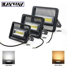 RAYWAY LED Flood Light 30W 50W 100W COB Exterior Spotlight IP65 LED Outdoor Light Spot Floodlight Aluminum Garden Lamp 110V/220V