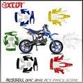 Pequeno apollo mini moto bicicleta da sujeira dos miúdos conjunto carenagem kit plástico fenders 2 tempos 47cc & 49cc 50cc 70cc