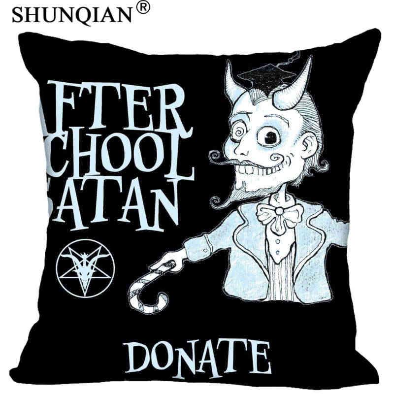 Haute qualité Satan Style jeter taie d'oreiller carré à glissière taie d'oreiller cadeau personnalisé 40x40cm