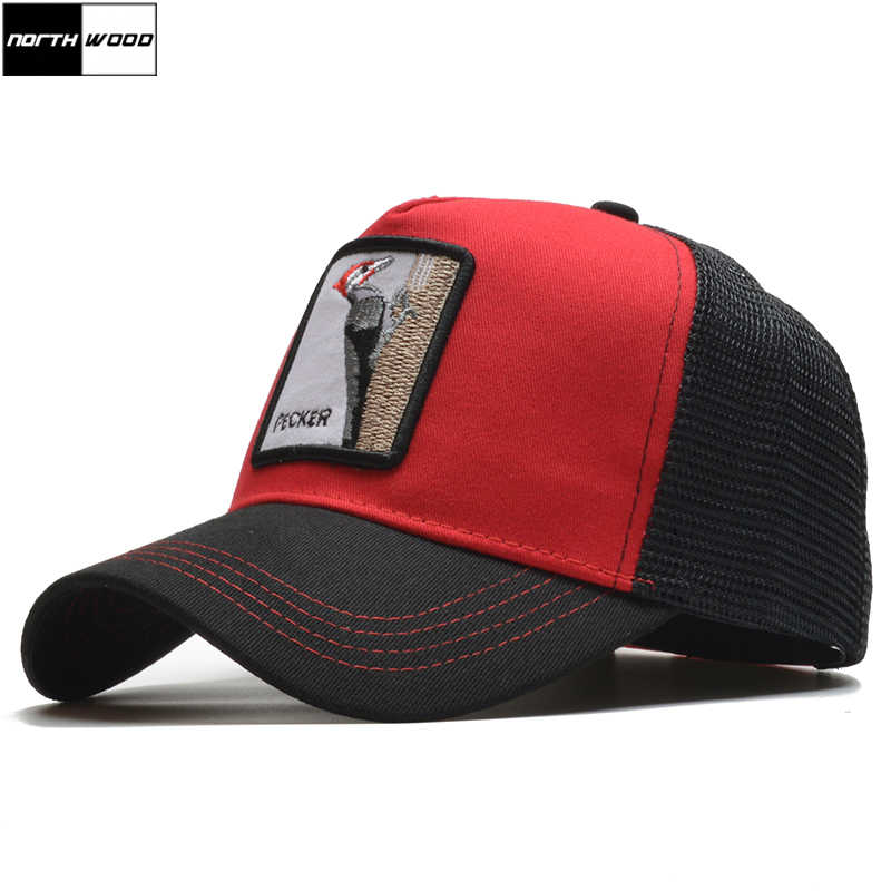 844d247e28d  NORTHWOOD  2019 Fashion Summer Baseball Cap Mesh Snapback Hat Hip Hop  Animal Pattern Cap