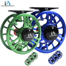 Maximumcatch High Grade TORO Fly Reel 3/4/5/6/7/8WT 6061-T6 Aluminum Green/Blue Color Right Left-Handed Fly Fishing Reel