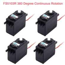 4Pcs Feetech FS5103R 3kg.cm 360 Degree Continuous Rotation RC Servo Motor Analog for Robot Smart Car Boat FZ3413