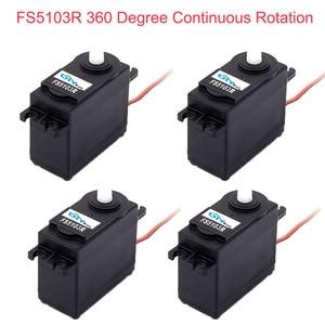 Image 1 - 4Pcs Feetech FS5103R 3kg.cm 360 Degree Continuous Rotation RC Servo Motor Analog for Robot Smart Car Boat FZ3413
