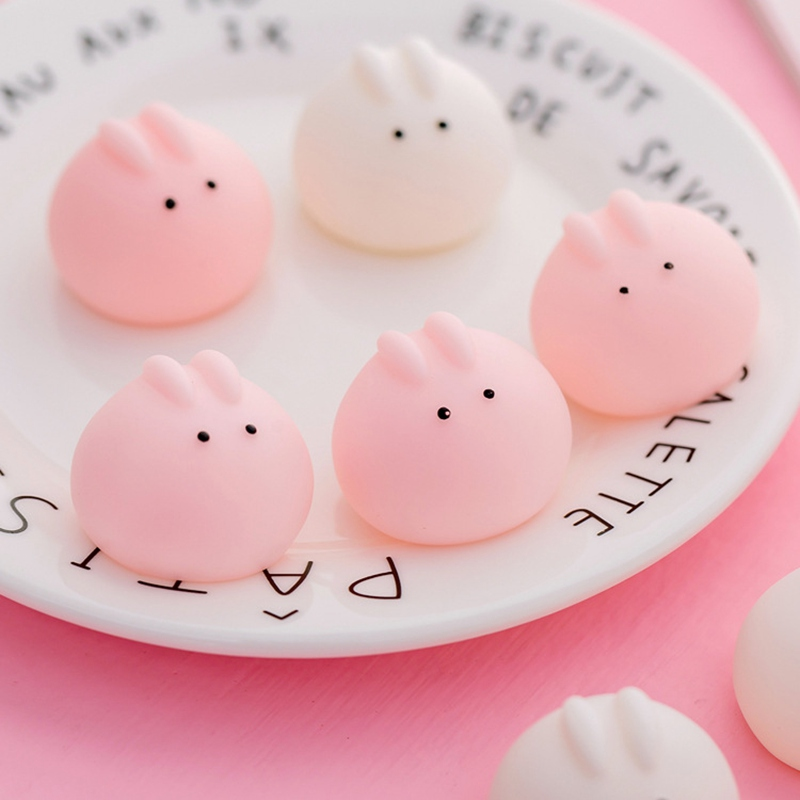 Mini 2 Color Squishy Toy Cute Rabbit Antistress Ball Squeeze Mochi Rising Abreact Soft Sticky Stress Relief Funny Gift Toy