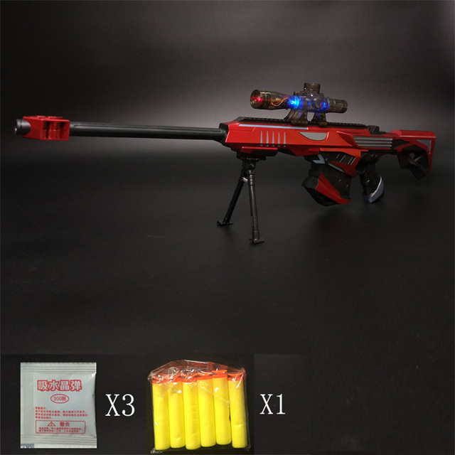 Plastic Infrared Water Bullet Gun Toy For Children Boys Sniper Rifle Pistol Soft Paintball Outdoor Toys Shooting Gun Kids Gifts