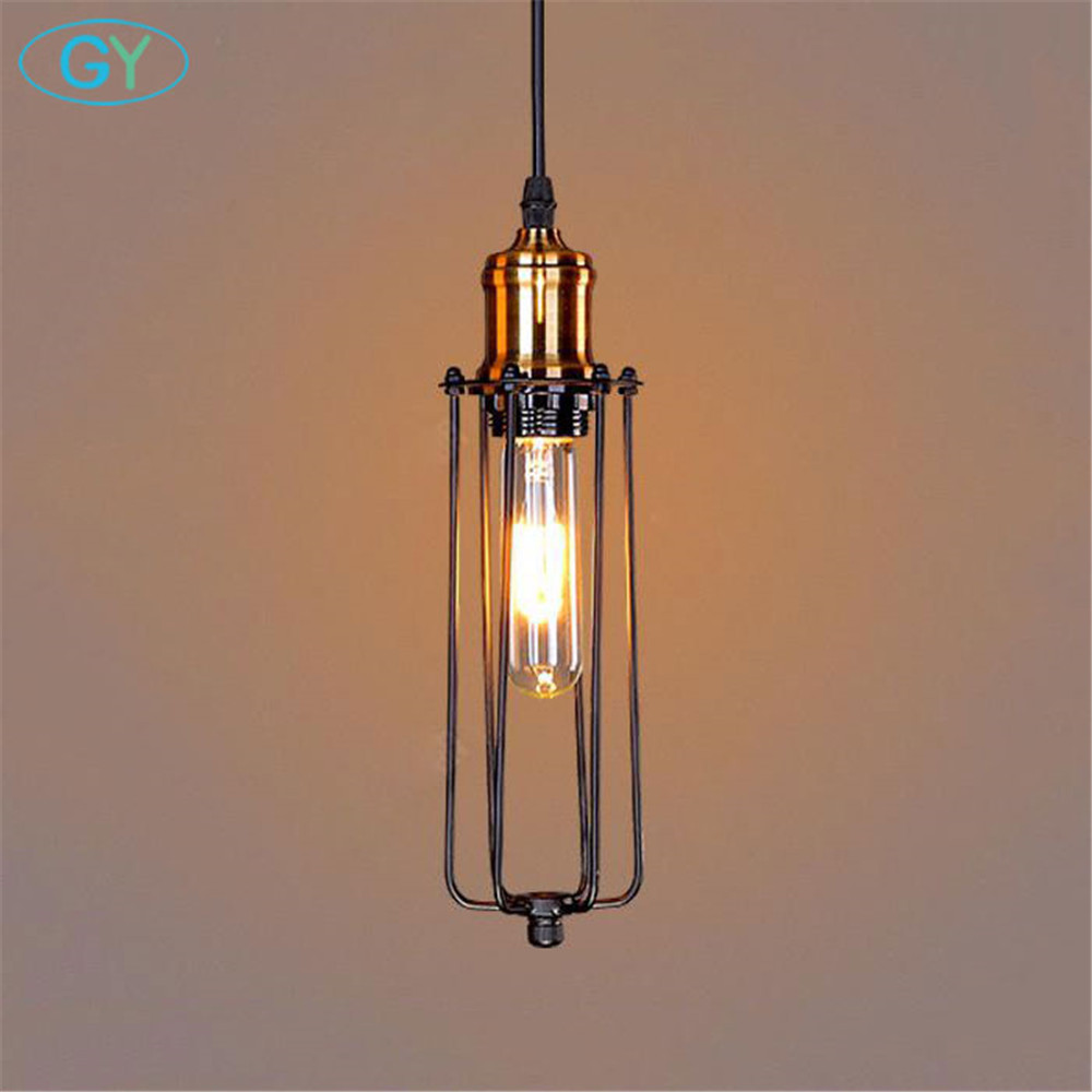 AC100 240V Vintage Long Black Pendant Light Lamp Fixture