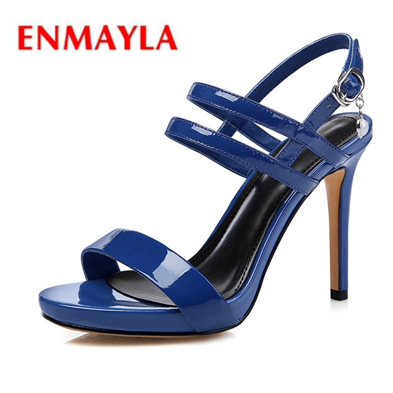 ENMAYLA Platform Sandals Buckle Strap Casual Wedges Shoes for Women High Heels Sandals Women Size 34 39 ZYL1977