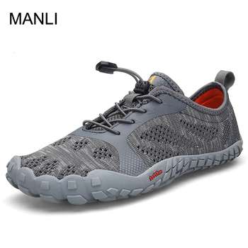 MANLI Mens Trekking Shoes Hiking Shoes Mountain Walking Sneakers For Men Five Toes Sports Shoes Breathable Climbing Shoes Man