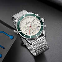 CADISEN Mens Watches Top Brand Luxury Waterproof Wrist Watches Stainless steel Date Simple Casual Quartz Watch Men Sports 9067
