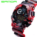 2016 New Brand SANDA Fashion Watch Men's Luxury Shock Analog Quartz Digital Watch Men G Style Waterproof Sports Military Watches