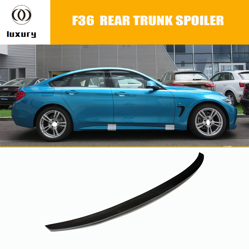 F36 M Performance Carbon Fiber Rear Wing Spoiler for BMW F36 420i 428i 435i 418d 420d 430d 435d Gran Coupe 4DR 2014 - 2018 f32 f33 f36 carbon fiber rear bumper lip diffuser spoiler for bmw f32 f33 f36 420i 428i 435i 420d 428d 435d m tech m sport
