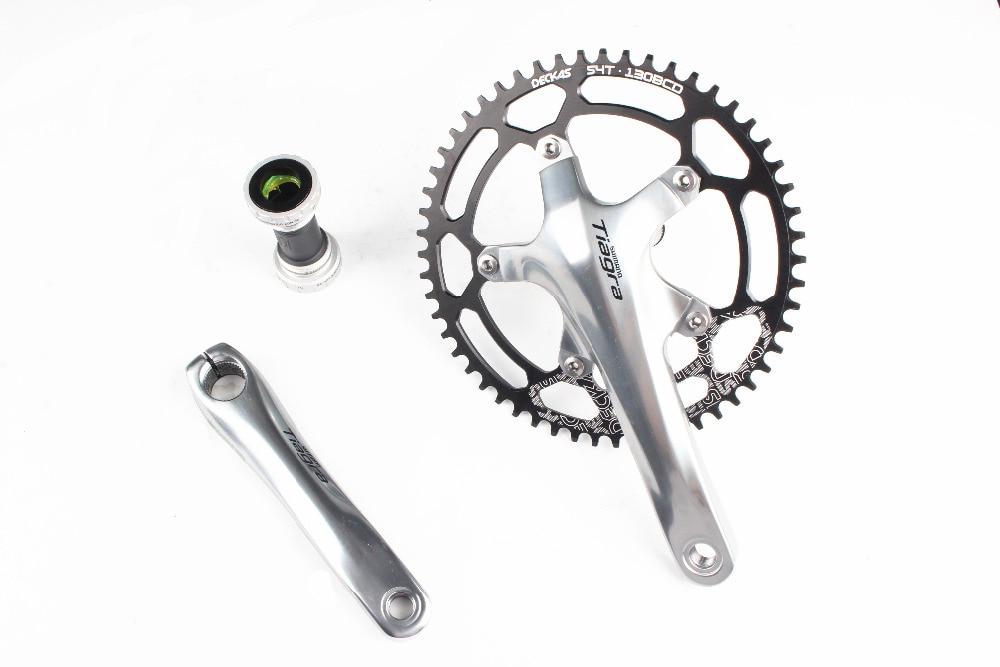 Shimano Tiagra 4600 vélo de Route vélo manivelle avec Deckas 130bcd plateau 50 t/52 t/54 t/ 56 t/58 t Avec BB4600