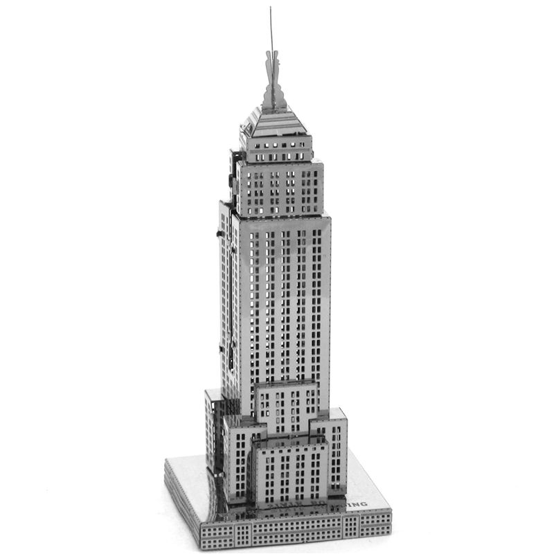 Empire State Building Fun 3d Metal Diy Miniature Model Kits Puzzle Toys Children Educational Boy Splicing