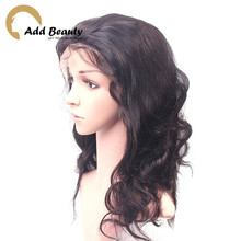 6A Unprocessed Brazilian Body Wave Full Lace Wigs Glueless Full Lace Wig Remy Hair Wigs lace Front  Wig