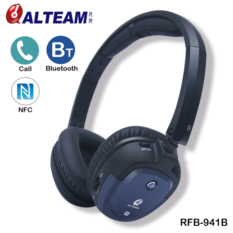 Foldable Deep Bass Stereo Sound Wireless cordless hands free NFC Bluetooth Headphone Headset with Microphone for phones music