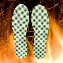 Теплые рефлексотерапевтические стельки Самонагревающиеся неплатежящиеся зимние подошвы для обуви натуральный турмалин Подогреваемые Самонагревающиеся стельки 1 пара