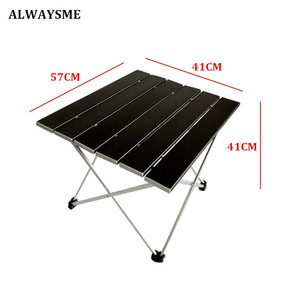 Image 2 - ALWAYSME 57x40x41CM Colorful Aluminium Alloy Outdoor Folding Table Hiking Camping Table Waterproof Folding Table Desk For Picnic