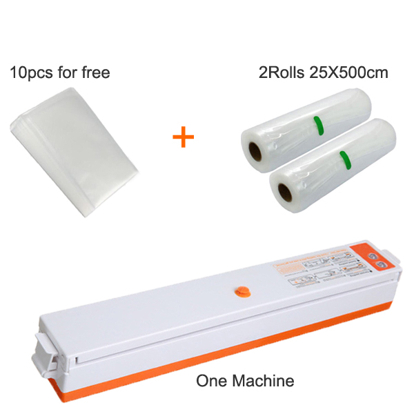220V/110V Household Food Vacuum Sealer Packaging Machine Film Sealer Vacuum Packer Including 10Pcs Bags