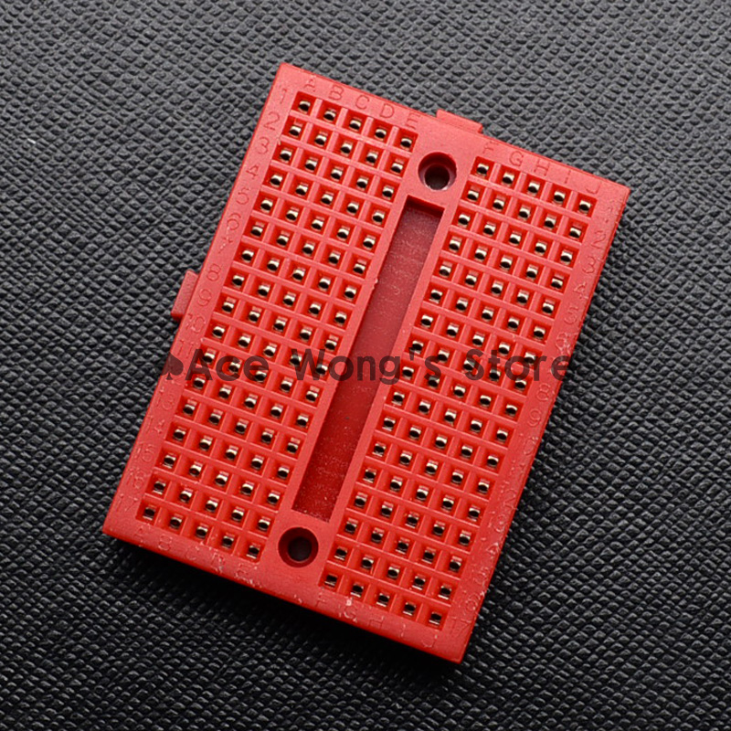 1pcs SYB-170 Mini Solderless Prototype Breadboard 170 Tie-points Red