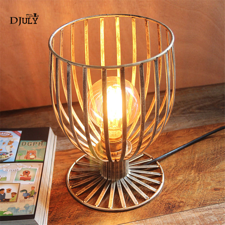 American industrial Hollow cup led table lamp for bar coffee store bedroom country desk lamp loft decor creative night lightsAmerican industrial Hollow cup led table lamp for bar coffee store bedroom country desk lamp loft decor creative night lights