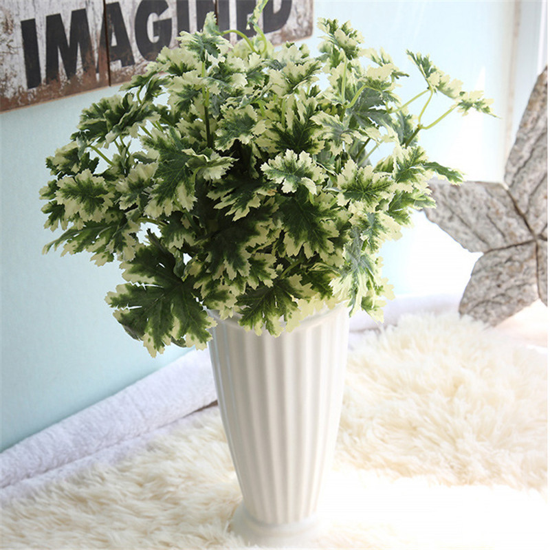 1pc 7 branch/bouquet silk fake Green plant simulation milan artificial grass with leaf Flower Home Flower Decoration FA4