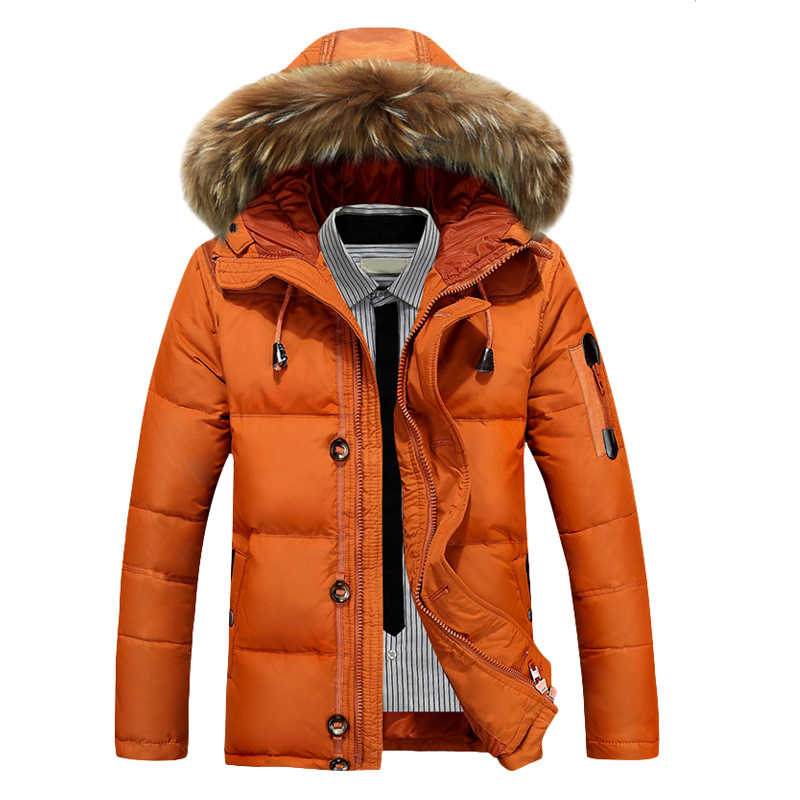 Новая теплая зимняя куртка мужская-30 морозостойкий градусов зимний пуховик с капюшоном меховой воротник ветрозащитная верхняя одежда мужские пуховики