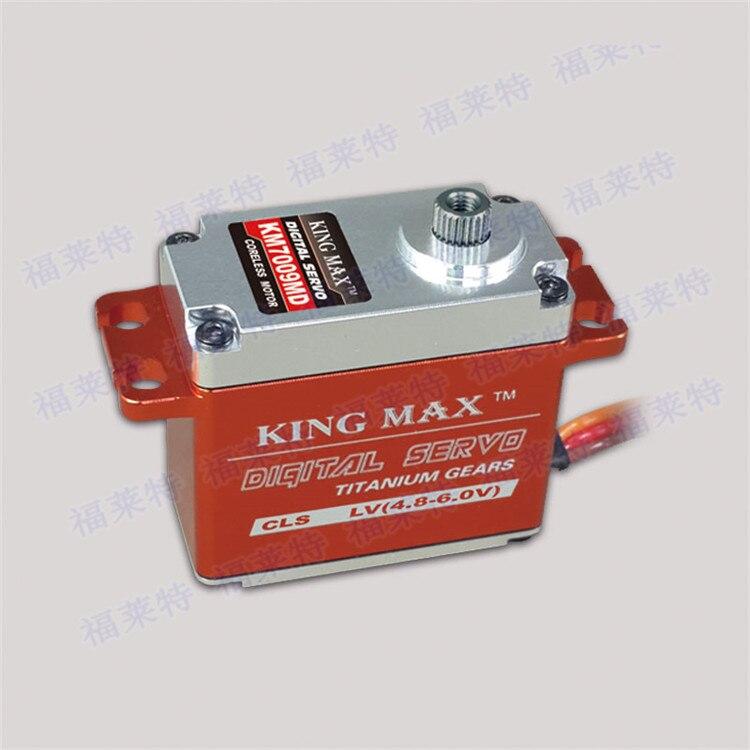 Kingmax KM7009MD 72g 9kg.cm Titanium Gear Torque Digital Servo For 600-700 Class Heli Sky-fly kingmax cls3015s 80g 25kg cm torque alu metal gear digital servo for rc model