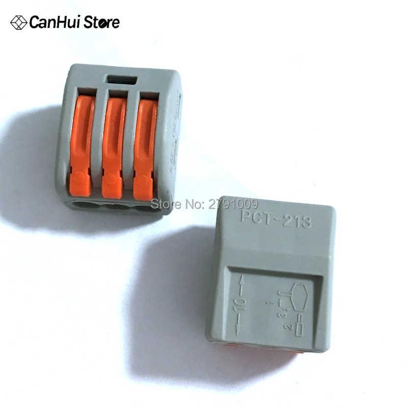 10 Buah 222-415 PCT-212 PCT-213 PCT-214 PCT-215 Universal Compact Kawat Kabel Konektor Konduktor Terminal Block Lever PCT212