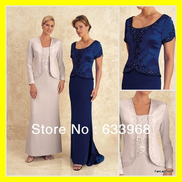 Long Dresses Chic Mother Of The Bride Plus Size Formal Grandmother