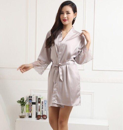 Online Shop Dressing Gowns For Women Sexy Silk Gown Plus Size Silk