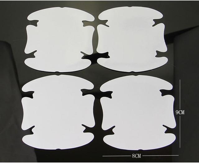 4Pcs/LOT Car Handle Protection Film Car Exterior Transparent Sticker Automotive Auto Accessories Car Styling Car sticker 2