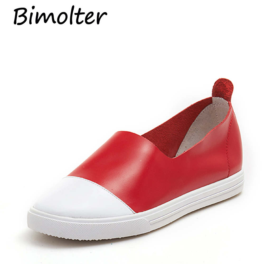 Bimolter Simple Styles Fashion Casual Loafers Superzachte lederen - Damesschoenen