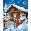 Digital Diy Oil Painting By Numbers Wall Decor On Canvas Art Oil Paint Snow Scenery Coloring