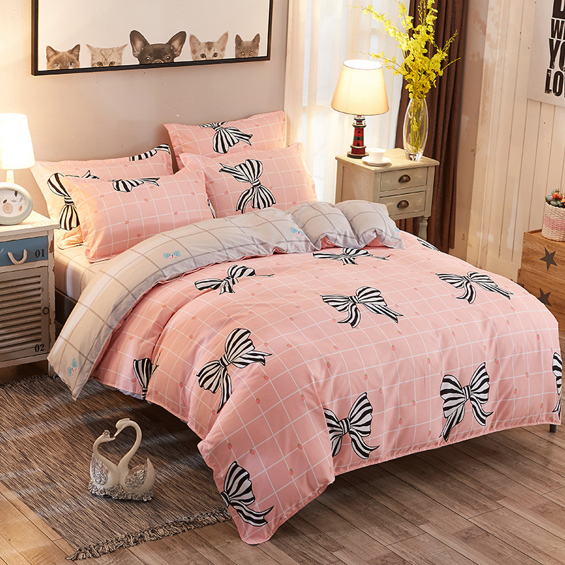 3/4 pcs Childrens Twin Single Size Print Duvet Cover Bedding Set Bedspreads Pillowcase Full King Queen Quality Bed Linen Cotton