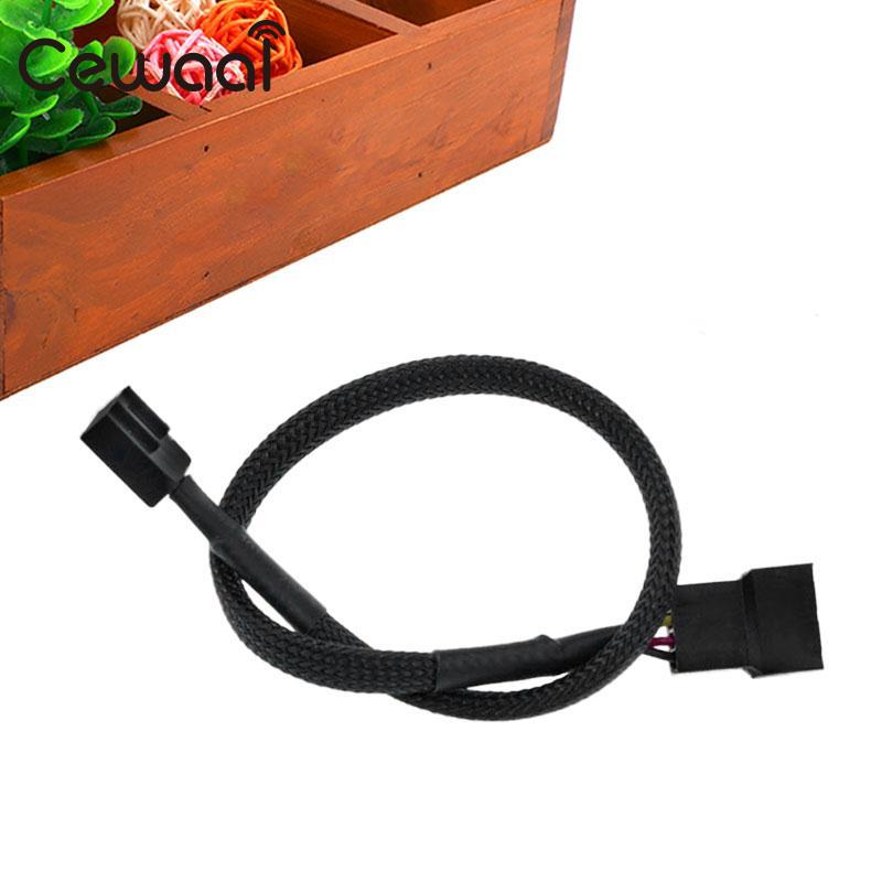 Cewaal 27cm 4 Pin PWM Connector CPU Fan Cable Computer PC Extension Power Cable Extended Lead Line Connector Black 5pcs 4 pin pwm connector case fan extension power cable extension cable for computer case fan 12 inch extension cable