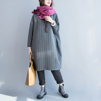 Autumn And Winter Dress Korean Version Of The Long Section 200 Pounds Of Fat Mm Large